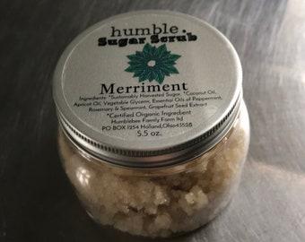 Organic Merriment Sugar Scrub 5.5 oz. Vegan