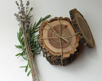 4 coasters, wood slices, wood coasters, reclaimed elm coasters, set of 4 coasters, reclaimed wood
