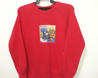 RARE!! Vintage 90's Felix The Cat by L.A.Mashues 97 Sweatshirt Jumper Pullover