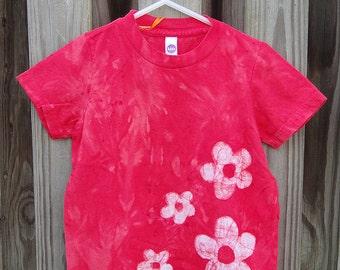 Red Girls Shirt, Flower Girls Shirt, Red Flower Shirt, Boys Flower Shirt, Kids Flower Shirt, American Made Kids Shirt, Flower Girl Gift (3)