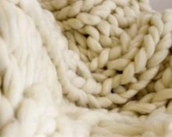 Spring Sale!!! Giant Chunky Knit Blanket - Extreme Knitting