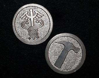 Dr Horrible/Captain Hammer inspired Pocket Coin