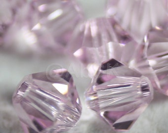 Swarovski Bicone Crystal Beads Xilion 5301 5328 ROSALINE - Available in 4mm, 5mm and 6mm