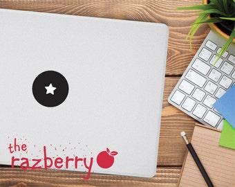 Star Mac Apple Logo Cover Laptop Vinyl Decal Sticker Macbook Decal Donut Shape Square Hexagon Triangle MacBook Vinyl Sticker Decal Circle