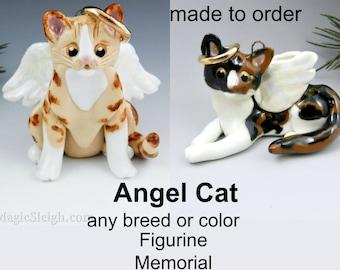 Angel Cat Breed or Color Christmas Ornament Figurine Memorial Porcelain