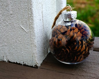 Pinecone Christmas Ornament Made from Real, Natural Mini Pinecones | Pinecone Decor | Natural Decorations | Christmas Ball Ornament
