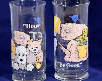 Pizza Hut Glasses, Pizza Hut Glass, ET Memorabilia, ET Phone Home, Steven Spielberg, E T Glass, Extra Terrestrial, 1980s Movie Gifts