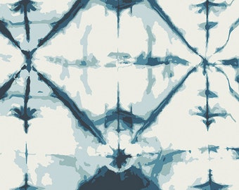 Indigo Window Crystal Fabric - Observer Collection by April Rhodes for Art Gallery Fabric