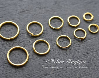 10 grams of all sizes rings color Golden about 150 rings
