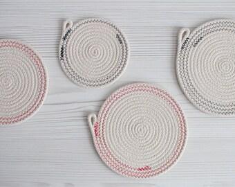 Rope Coaster / Trivet Set of 4