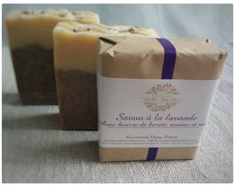 Savon à la lavande, à l'avoine et au miel / Honey and oat lavender soap