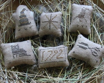 SALE!! Mrs. Toombs' Treasures by Pineberry Lane - Cross Stitch ornaments