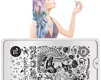 MoYou-London Nail Stamping Plate Zodiac, Rebel, Zuki, Mix & Match,  Henna Collections CLEARANCE LIMITED TIME