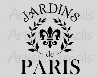 STENCIL French Jardins de Paris - Gardens of Paris