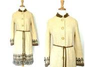 Vintage 60s coat - wool c...