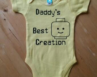 Lego Daddy's little creation Onesie