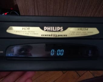 Recorder Video recorder Video cassette recorder PHILIPS VR254 Old VHC Vintage video recorder Recorder for films Cassette films recorder