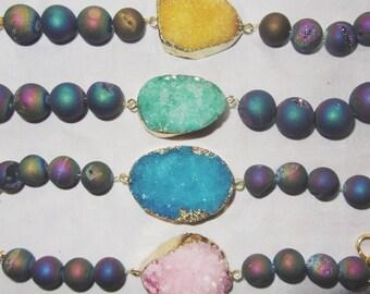 Multicolor bracelet Druzy Stone [stones III]