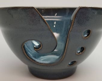 Small Blue Yarn Bowl Ready to Ship