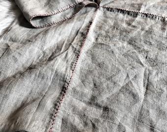 Skjoldehamn atype viking hood, hand sewn linen hood