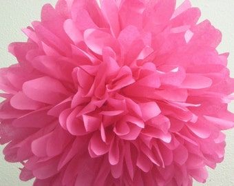 HOT PINK tissue paper pompom star vs the forces of evil party fuschia decorations mexican fiesta luau wedding engagement chair marker Purim