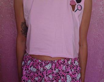 Pink Leopard Hello Kitty Skirt