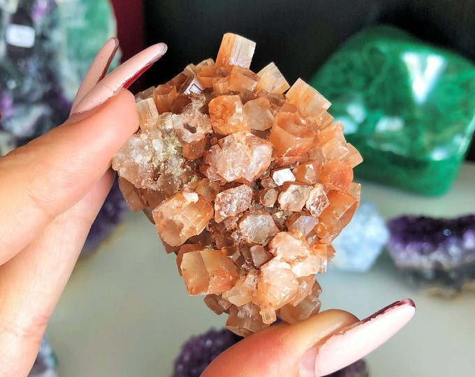 Aragonite Star Cluster infused w/ Reiki, Healing Crystals and Stones