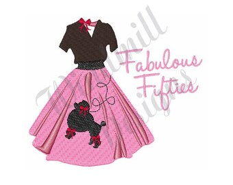 Fabulous Fifties - Machine Embroidery Design