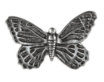 Danforth Butterfly 1 inch ( 25 mm ) Pewter Metal Button