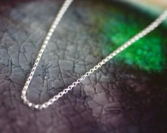 Sterling Silver Rollo Chain Necklace -  Rollo Chain Necklace - Charm Necklace - Silver Rollo Chain - Sterling Rollo Chain - Dainty Chain
