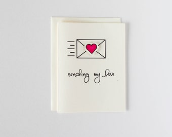 Sending my love card - Oh Goodness Paper Co