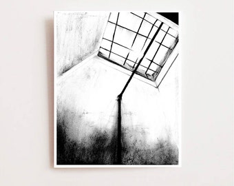 Abstract wall art, Redemption- Fine art Giclee print, charcoal drawing, halloween decor, black and white art, charcoal sketch, abstract art