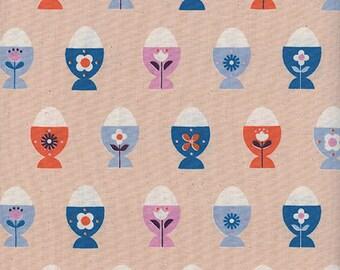 Cotton + Steel Welsummer - egg cups - peachy - 50cm