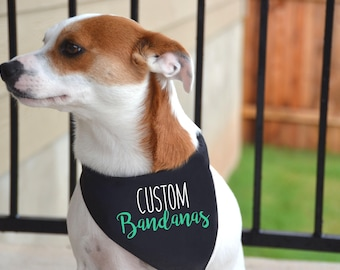 Custom Dog Bandanas / Personalize your dog bandanas with any text or graphic / 100% Cotton bandana / Custom bandanas / Dog apparel
