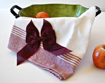 Burgundy Tea Towel, Kitchen and Dining Towels, Dish Towel, Dishcloths and Kitchen Towels, Tea Towels, Linens, Home and Living Tea Towel