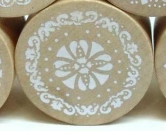 Vintage Lace Pattern Rubber Stamp