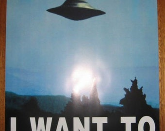 X-FILES - I Want To Believe Poster UFO Full Size Mulder