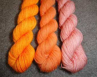 Orange You Gonna Ask? Hand Dyed Mini Skeins