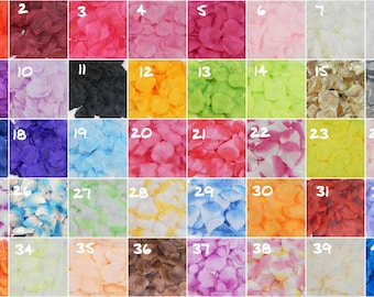 1000 Silk Rose Petals For Wedding Flower Bridal Decoration  Girl's Baskets Party, etc 40 Color To Choose