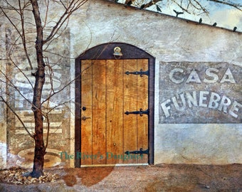 Casa Funebre Photograph, 8 x 10 Matted Print, Historic Building, New Mexico Southwest Art