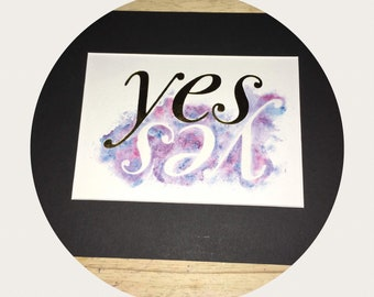 Yes, Yes...  Watercolour Print