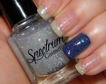 FIRST SNOW Clear Nail Polish with Iridescnet glitter