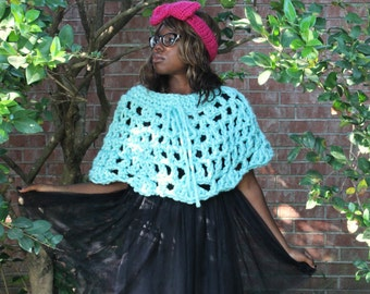 The Crystal Crochet Cape Pattern. Instant Download!