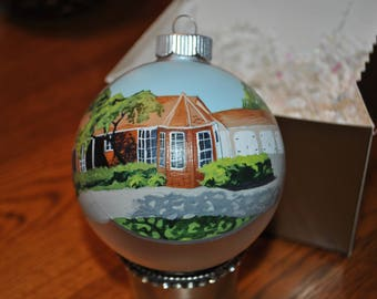 New Custom Hand Painted Home Ornament - sold