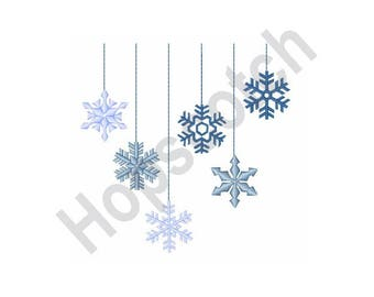 Hanging Snowflakes - Machine Embroidery Design