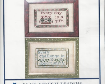 """Clearance-""""Gift of Opportunity"""" Counted Cross Stitch by Blue Ribbon Designs"""