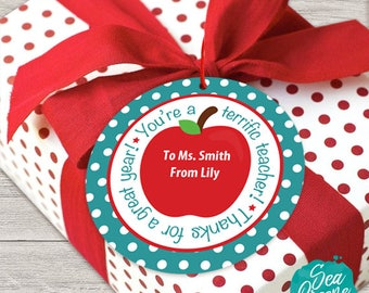 Teacher Gift Tag | Personalize Gift Tags | Printable gift tags | Gift for Teacher tag | Terrific Teacher tags | Thank you Teacher