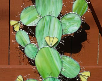 Cactus Sculpture in Stained Glass Twenty Dollar Deposit Required Please Read Entire Listing, Especially Shipping Info