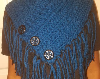 Textured Bohemian Scarf with fringe