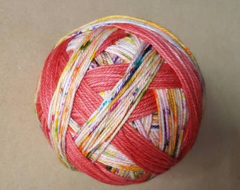 DYED TO ORDER: Hand Dyed, Self Striping Sock Yarn ~ Cupcake ~